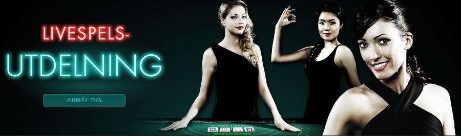 live casino utdelning