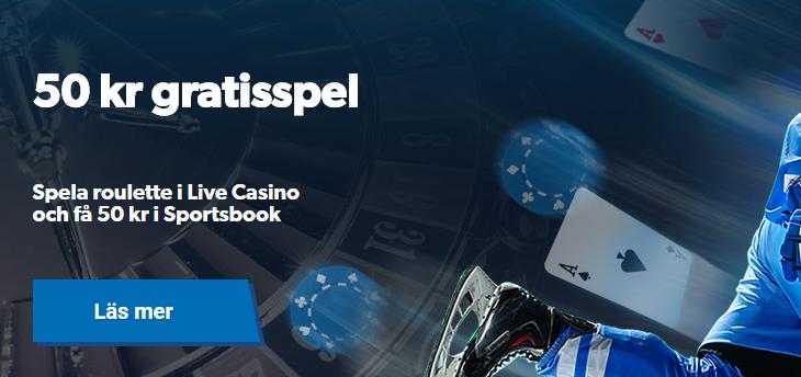 nordicbet live casino 50kr gratis